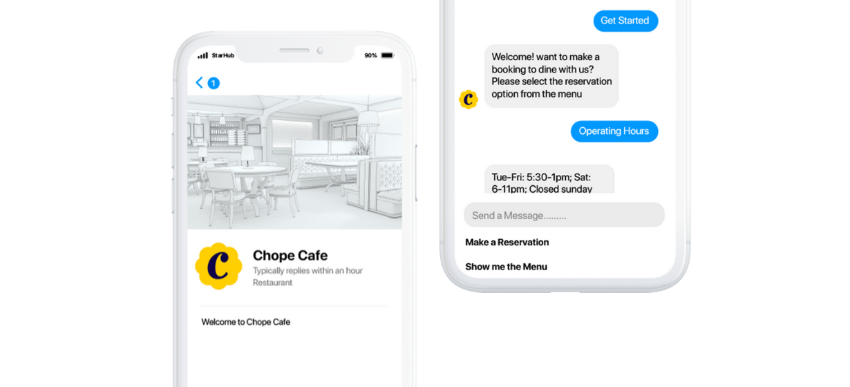 chope's Facebook Messenger Integration