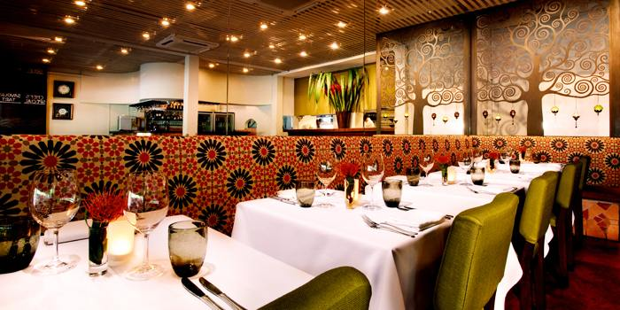 Interior of Original Sin serving Mediterranean cuisine at Holland Village, Singapore