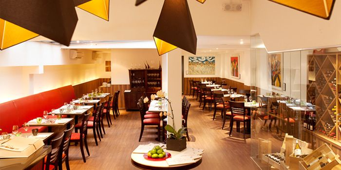 Image of the interior at Burlamacco Ristorante on Stanley Street in Telok Ayer, Singapore