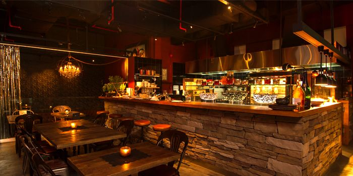 Interior of Bar-Roque Grill in Tanjong Pagar, Singapore