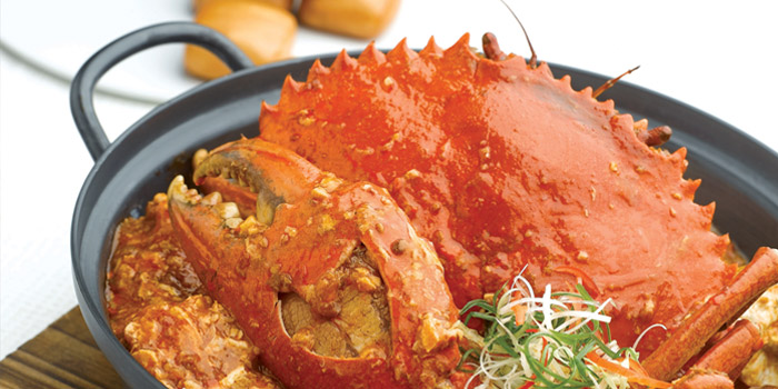 Chilli Crab from JUMBO Seafood (The Riverwalk) in Clarke Quay, Singapore