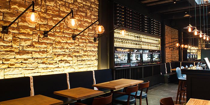 Seating of Napoleon Food & Wine Bar at Telok Ayer in Raffles Place, Singapore