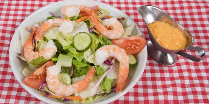 Fresh shrimp salad in Anthony