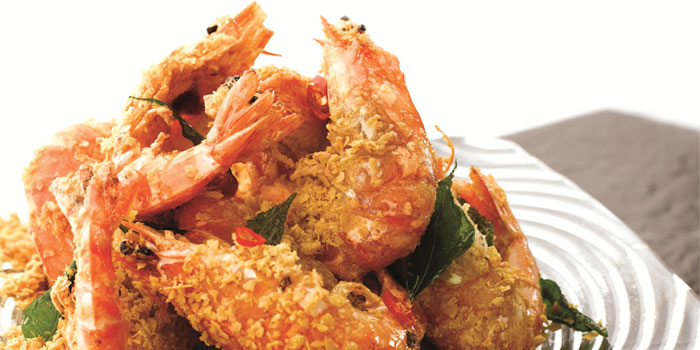 Cereal Prawns from JUMBO Seafood (Riverside Point) in Clarke Quay, Singapore
