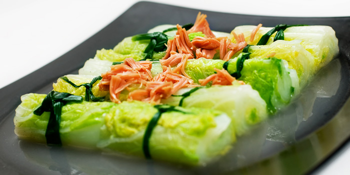 Vegetables from Palm Beach Seafood Restaurant in One Fullerton, Singapore