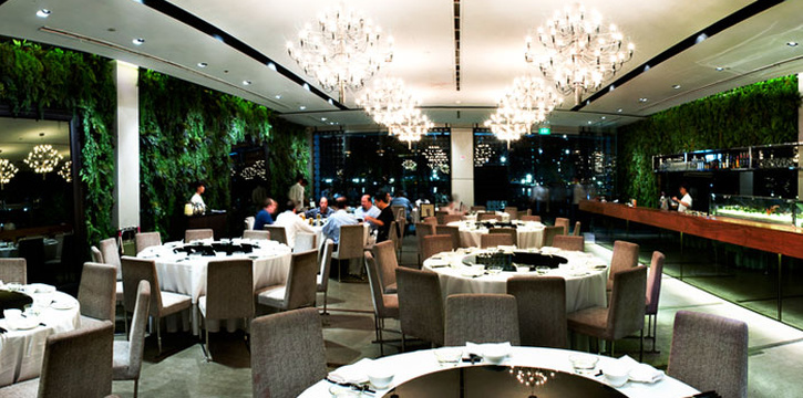 Interior of Palm Beach Seafood Restaurant in One Fullerton, Singapore