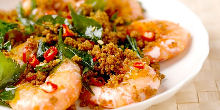 Sambal Prawns from Pagi Sore at Far East Square on Telok Ayer Street in Chinatown, Singapore