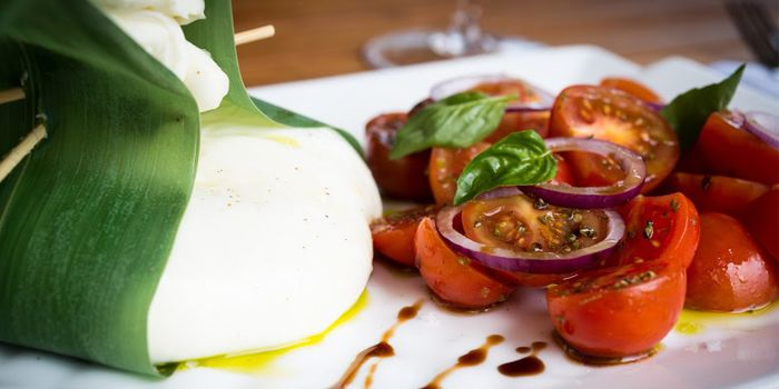 Burrata with Cherry tomatoes, Spasso, Tsim Sha Tsui East, Kowloon, Hong Kong