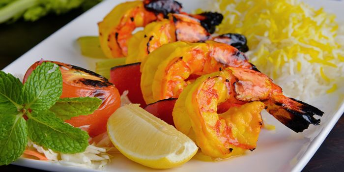 Grilled Prawns from Shabestan in Robertson Quay, Singapore