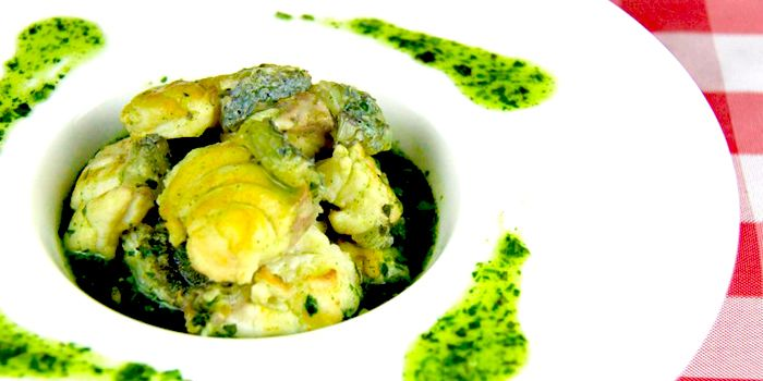 Garoupa, fresh green herb sauce, de Belgie, Elgin, Soho, Hong Kong