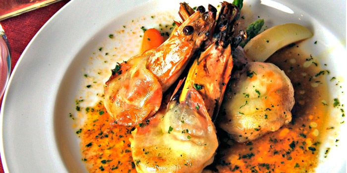 Grilled Prawns with Vegetables from Pasta Brava in Tanjong Pagar, Singapore