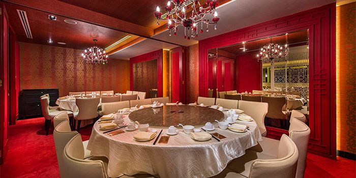 Private Dining Room in TAO Seafood Asia in Asia Square in Raffles Place, Singapore