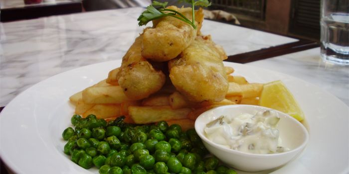 Beer battered, Fish, Chips, Peas, The Cottage Gastropub, Sheung Wan, Hong Kong