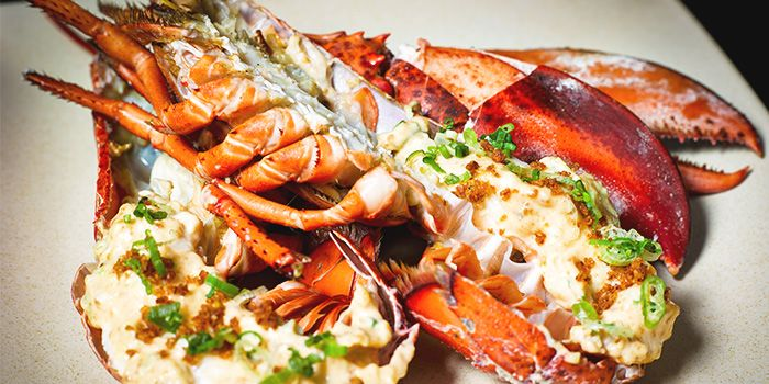 Lobster from Tatsu in Asia Square in Raffles Place, Singapore