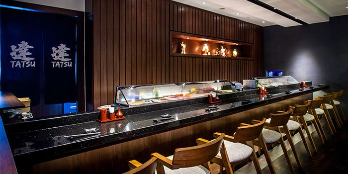 Sushi Bar of Tatsu in Asia Square in Raffles Place, Singapore