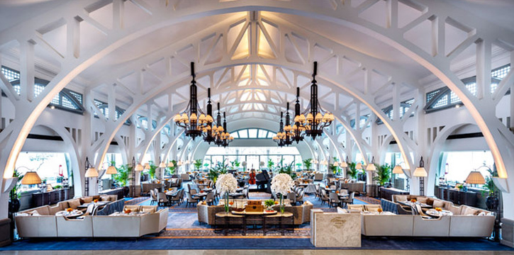 Interior of The Clifford Pier in Fullerton Bay Hotel, Singapore