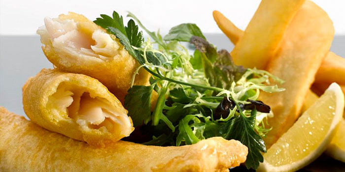Fish and Chips from Post Bar in The Fullerton Hotel, Singapore