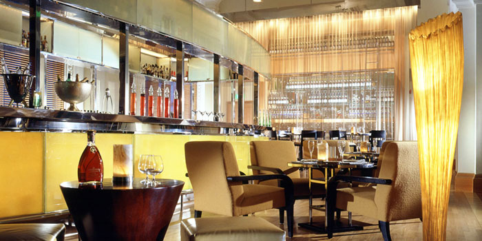 Interior of Post Bar in The Fullerton Hotel, Singapore