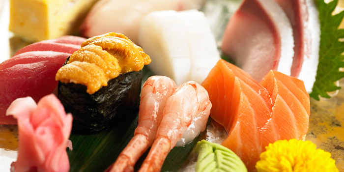 Japanese Buffet from The Courtyard at The Fullerton Hotel Singapore in Raffles Place, Singapore