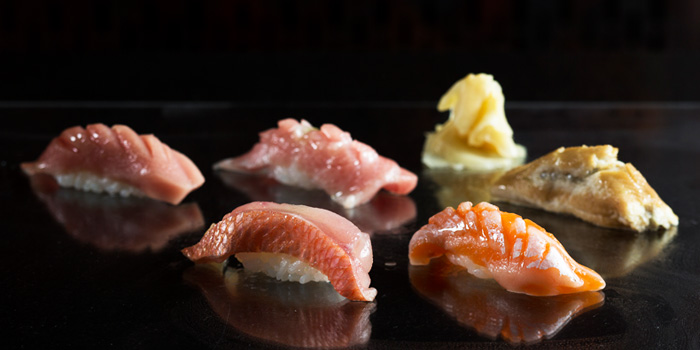 Sushi Selection from IKYU in Tiong Bahru, Singapore