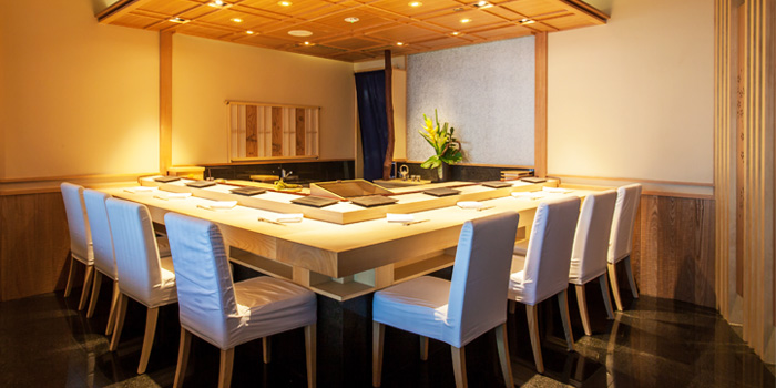 Interior of Sushi Mieda at Collyer Quay, Singapore