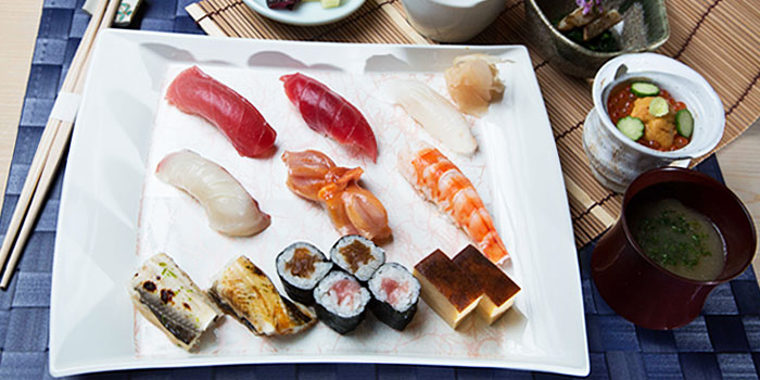 Sushi Platter from Sushi Mieda in Collyer Quay, Singapore