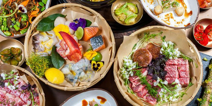 Food Spread from CHI-Q Modern Korean Restaurant in The Bund, Shanghai