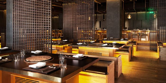 Interior of CHI-Q Modern Korean Restaurant in The Bund, Shanghai