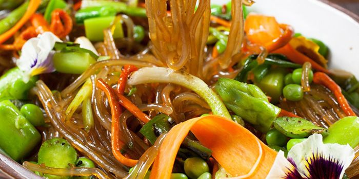 Spring Vegetable Jap Chae Noodles from CHI-Q Modern Korean Restaurant in The Bund, Shanghai