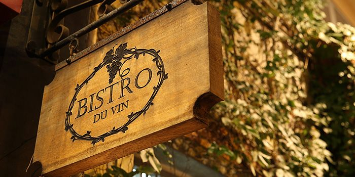 Sign of Bistro du Vin, Kennedy Town, Hong Kong