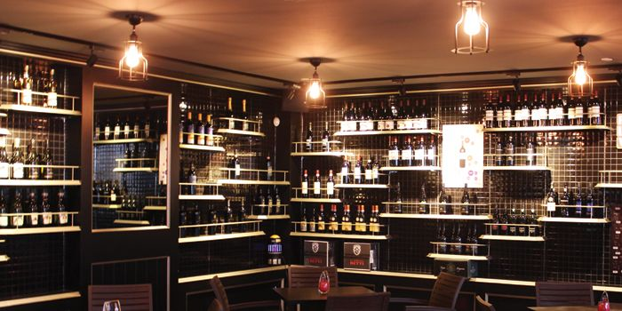 Interior of Paprika & Cumin Wine Bar Bistro in CHIJMES in City Hall, Singapore
