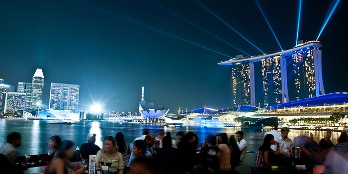 Rooftop Bar of Kinki Restaurant + Bar in Collyer Quay, Singapore