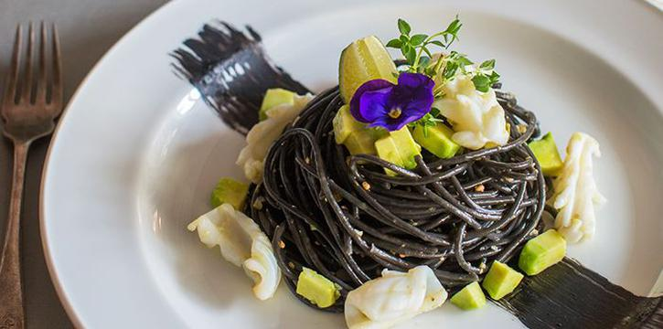 Squid Ink Pasta from Pizza Fabbrica in Bugis, Singapore