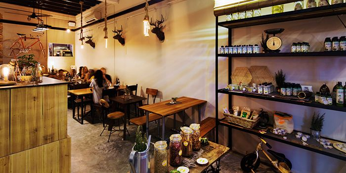 Interior of Afterglow on Keong Saik Road in Chinatown, Singapore
