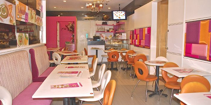 Interior of Cafe Salivation in Little India, Singapore
