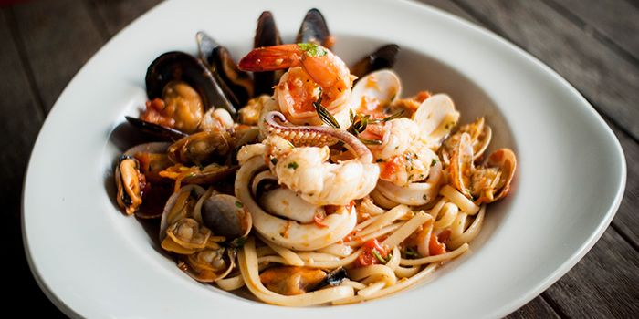 Seafood Pasta from La Forketta in Dempsey, Singapore