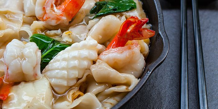 Fried Seafood Hor Fun from Red House (Prinsep) in Dhoby Ghaut, Singapore