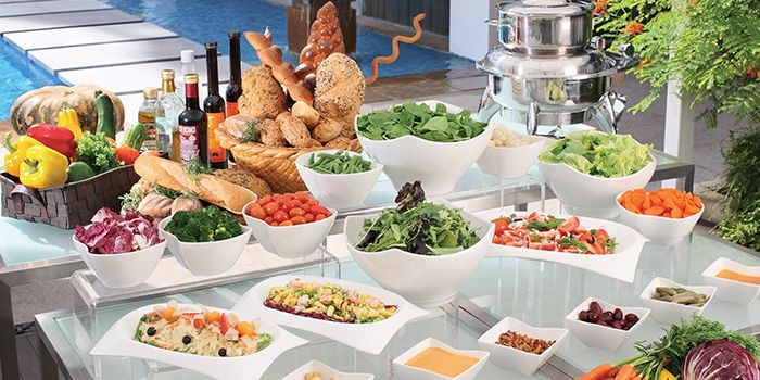 Salad Buffet from Cocobolo Poolside Bar + Grill at Park Hotel Clarke Quay in Robertson Quay, Singapore