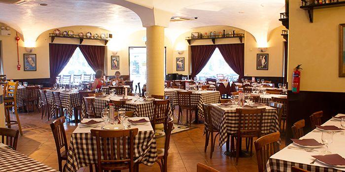 Interior of Al Forno Italian Restaurant in East Coast, Singapore
