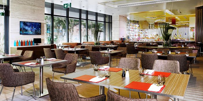 Interior of Escape Restaurant & Lounge in One Farrer Hotel in Farrer Park, Singapore