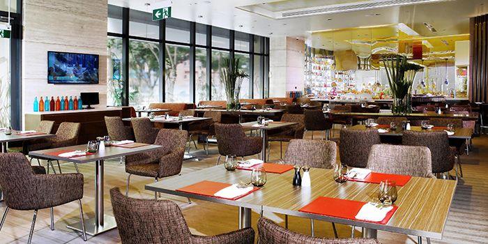 Interior of Escape Restaurant & Lounge in One Farrer Hotel in Farrer Park, Singapore