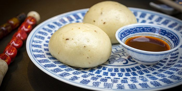 Meat Buns, Man Mo Cafe, Sheung Wan, Hong Kong
