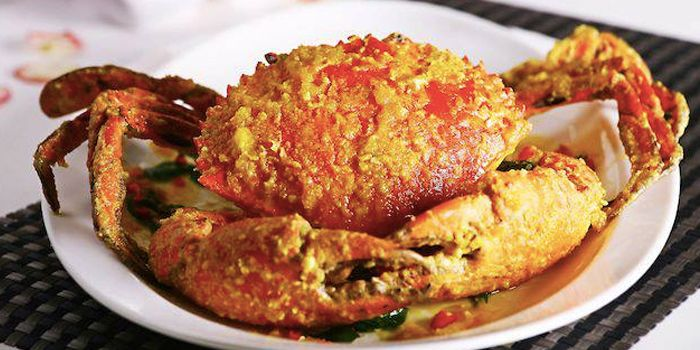 Salted Egg Crabs from Kelly Jie Seafood in Toa Payoh, Singapore