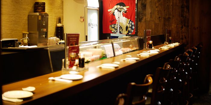 Counter Seats of Mitsuba Japanese Restaurant in Clarke Quay, Singapore