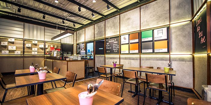 Interior of The Quarters in Tanjong Pagar, Singapore