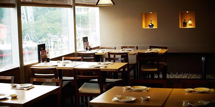 Interior of Mitsuba Japanese Restaurant in Clarke Quay, Singapore