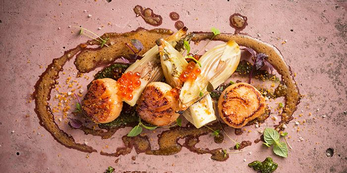 Roasted US Bay Scallop from fȳr in Raffles Place, Singapore