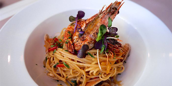 Linguine Agollo Olio with Tiger Prawn, Bellini, North Point, Hong Kong