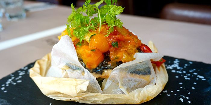 Salmon En Papillote with Cherry Tomato, Bellini, North Point, Hong Kong