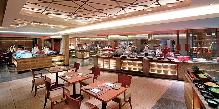 Interior of Cafe Kool, Kowloon Shangri-La. Tsim Sha Tsui East, Hong Kong